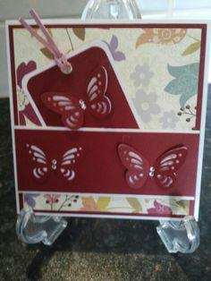 Vrolijke vlinderkaart