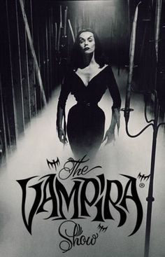 The Vampira Show, starring Maila Nurmi Retro Horror, Sci Fi Horror, Arte Horror, Vintage Horror, Horror Films, Horror Art, Horror Posters, Morticia Addams, Lily Munster