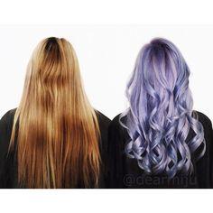 Lavender Silver + Indigo Lights using my favourite @fanola_usa Violet + Blue…