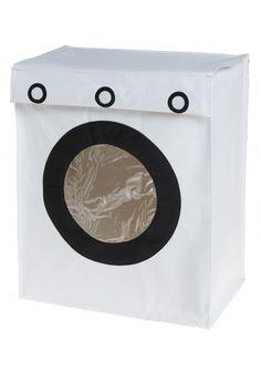Trompe l'Aundry Hamper - White, Black, Dorm Decor, Best Seller, Best Seller, Good, Statement, Wedding, Guys, Press Placement, Top Rated