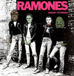 Altered album cover featuring Universal Monsters
