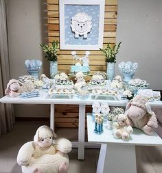 Baby Shower Favors, Baby Shower Games, Baby Boy Shower, Baptism Themes, Baby Boy Baptism, Baby Dedication, Baby Lamb, Baby First Birthday, Baby Decor