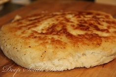 Old Fashioned Biscuit Bread - A quick biscuit bread, sometimes called hoecake bread, fried in bacon drippings in a screaming hot, cast iron skillet on top of the stove. from Deep South Dish . Skillet Bread, Pan Bread, Bread Baking, Bread Food, Naan, Quick Biscuits, Fried Biscuits, Baking Biscuits, Bread Recipes