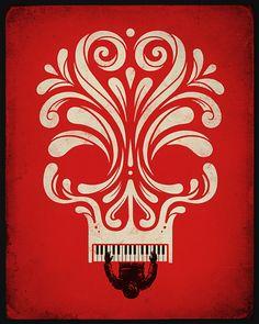 Skull piano