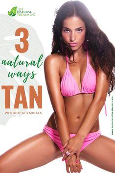 How to Tan Naturally - 3 Ways to Tan with Zero Chemicals #naturaltan #naturaltanning #summertan Dark Skin Tone, Tan Skin, How To Tan, Self Tanning Lotions, Face Spray, Natural Tan, Skin Problems, Natural Treatments, How To Run Longer