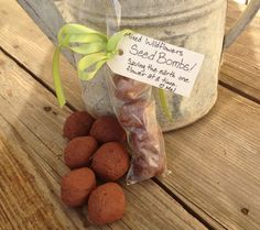Poss for Shelly, have seen other tutorials DIY Wildflower Seed Bombs! ~ What on earth is a seed bomb? Well to describe them, they are clever little balls of clay, dirt, and seeds that you can make and share as gifts! Easy Garden, Lawn And Garden, Edible Garden, Seed Bombs, Wildflower Seeds, Spring Sign, Garden Gifts, Garden Projects, Garden Ideas