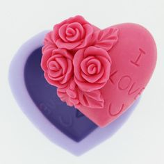 R0227 Silicone Three Rose Fondant Cake Mould DIY Soap Mould