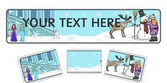 * NEW * Winter Fairytale Editable Display Banner - twinkl