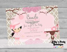 PRINTABLE Tea Party Birthday Invitation YOU by LillysPartyBoutique