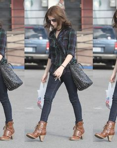 Celebrity Style: Anna Kendrick in Deena & Ozzy Boots - Loving those boots!