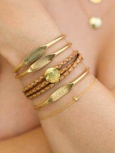 Jook and Nona - Mark Twain Trio Brass Cuff Bracelets