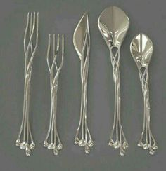 Elvish forks, knife and spoons set. https://www.facebook.com/photo.php?fbid=10207028925386275