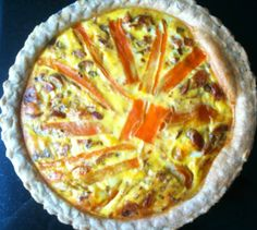 This quiche is quick and tasty. You can have it for breakfast, lunch, dinner, or a snack! Spanish Chorizo Recipes, Mushroom Quiche, Stuffed Mushrooms, Stuffed Peppers, Tasty Kitchen, Recipe Community, Hawaiian Pizza, Quiches, Tarts