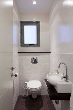Blanc, gris, noir, lustré.. perfect guest toilet - a spacious enough vanity is a must, must!!
