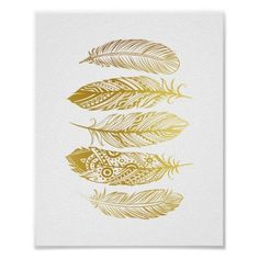 This feather tribal print comes in 5 watercolor versions, multicolor watercolor plus faux gold foil! So many options. Size: x Gender: unisex. Material: Value Poster Paper (Matte). Feather Drawing, Watercolor Feather, Feather Painting, Feather Art, Tribal Feather, Tribal Home Decor, Gold Home Accessories, Gold Wall Art, Gold Feathers