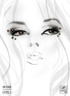 Products used:   Punker – One Stroke Liquid Eyeliner in Perfecto,  Night Lights Shadow – Multi-dimensional Eye Powder in Borealis Black,  Night Lights Crystals - Multi-dimensional Skin Jewels in Inferno  #ArdencyInn