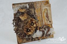 My Little Craft Things: Going Grunge with Wild Honey Steampunk Cards, Quote Collage, Wild Honey, Artist Card, Scrapbooking, Stampers Anonymous, Collage Vintage, Mixed Media Artists, Craft Tutorials