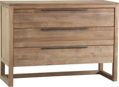 Linea 3-Drawer Chest  | Crate and Barrel (too big but the idea for night stands)