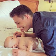 Colton Haynes | 24 Babes Holding Babies