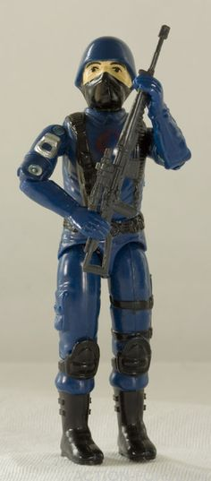 COBRA TROOPER  Enemy Trooper  Born: Worldwide  Nameless fanatics controlled by Cobra Command. Highly dangerous! Cobras swear total loyalty to their fanatical leader, Cobra Commander. Their goal is to conquer the world for their own evil purpose!