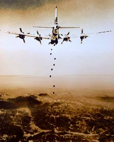 B-29 Superfortress on a Bombing Run in North Korea, 1950