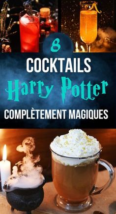 8 Harry Potter cocktails that will bewitch you - . - 8 Harry Potter cocktails that will enchant you – - Potion Harry Potter, Harry Potter Watch, Harry Potter Cocktails, Harry Potter Thema, Harry Potter Cosplay, Harry Potter Characters, Diy Harry Potter, Hogwarts Christmas, Harry Potter Christmas
