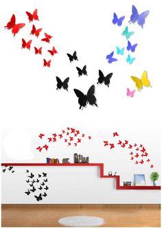 Compra aquí Kit de stickers decorativos de mariposas en 3D para usar en paredes. Decoración de habitaciones. Marca: HonC Accesorios para el hogar solo en Fantastyc.com | Increíbles precios | Envío GRATIS | ¡Entra Ahora!
