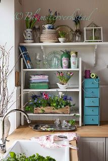 awesome shelving in kitchen