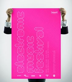 Poster // EMUS // Electronic Music Festival on the AIGA Member Gallery