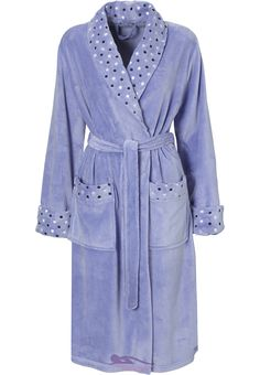 """A pretty & feminine Pastunette """"Beautifully Dotty"""" soft touch, purple dressing gown"""
