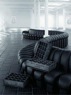 Sectional #sofa DS-600 by de Sede | #design Ueli Berger, Klaus Vogt, Eleonore Peduzzi-Riva, Heinz Ulrich #interiors