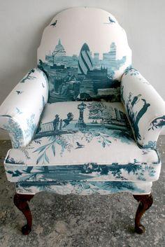 Timorous Beasties Fabric - London Toile