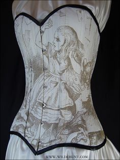Alice in Wonderland corset to feed my obsession.