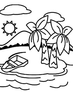 pirate island picture, treasure island coloring page #vbs
