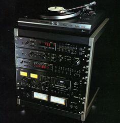 quadrafonica:  Philips Black Tulip Hifi Music System, Audio System, Radios, Audio Rack, Recording Studio Home, Black Tulips, Tape Recorder, Record Players, Hifi Audio