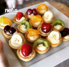 Cookie Desserts, Cookie Recipes, Dessert Recipes, Mini Cheesecake Recipes, Sweet Cookies, Homemade Cookies, Lunch Snacks, Turkish Recipes, Cupcakes