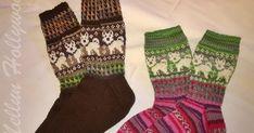 Tuttavan tuttava pyysi kirjoneulesukkia kahdet kokoa 38 ja 42. Teinpä sitten molempia kokoja kissoja ja koiria. Koirien oli tarkoitus olla b... Crochet Art, Crochet Woman, Knitting Socks, Knit Socks, Cool Socks, Baby Knitting Patterns, Handicraft, Mittens, Knitwear