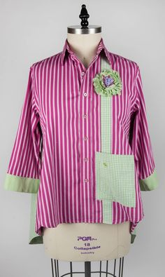 """From Paganoonoo.com. This is the front of a """"Patti"""" garment made using a Paganoonoo upcycle sewing pattern"""