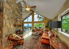 """This unique mountain chalet in Gatlinburg has an amazing mountain view, privacy, & an incredible decorating package! You'll love the amenities, comfort, & convenience of this luxury mountain home. """"Red Hawk View"""" has everything you are looking for in a fabulous mountain vacation with family. Start planning your next #Gatlinburg #vacation today! http://www.gatlinburgrentalplaces.com/vacation-rentals/4362/RED-HAWK-VIEW-443-Gatlinburg-Gatlinburg-TN"""