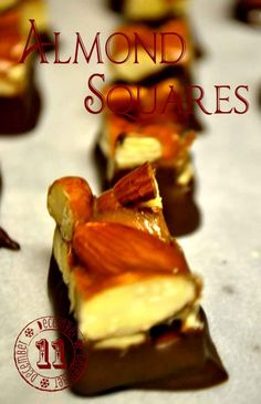 See's Knock off Almond Squares