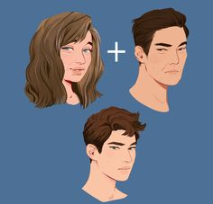 A face study of Jasper with his parents, Lisa and Katsumi Asano Pretty Art, Cute Art, Art Sketches, Art Drawings, Drawn Art, Character Drawing, Character Design Inspiration, Art Tutorials, Art Reference