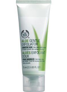 #Aloe #Gentle #Exfoliator  A very mild, creamy facial #scrub to gently #exfoliate without irritating the skin, leaving it feeling soft, smooth and refined. Also calming on sensitive skin.