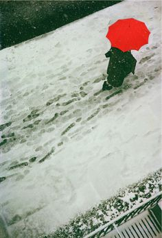 Saul LEITER :: Footprints, ca. 1950