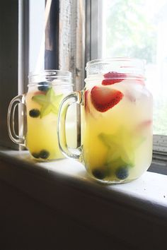 Red White and Blue Sangria | My Baking Addiction