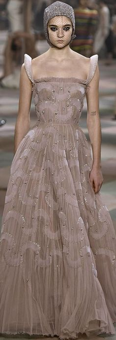 Christian Dior Couture, Ball Gowns, Formal Dresses, Spring, Fashion, Pink Sundress, Tulle, Lace, Black
