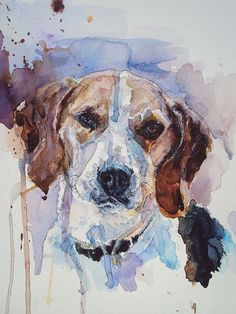 Custom pet portrait 12 x 16. Watercolor painting. by mimilove