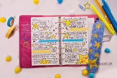 Star Filofax page decoration. We're now all pimped up! - Filofax Friday