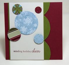 Nice design for Christmas card #Scrapbooking