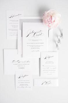 Vintage Glam Wedding Invitations