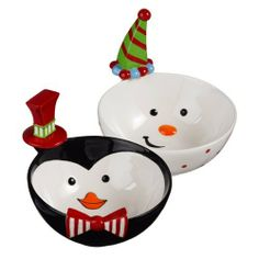 Grasslands Road Holiday Studio 100 Snowman and Penguin Bowls with Hat Spreader 5 3/4-inches Two Styles, Set of 4 by amscan - kitchen. $60.94. 5 by 1-inch picks ceramic toppers, five picks in each holder. High gloss finish ceramic, stainless steel. See our coordinating grasslands road studio 100 items. Holder 5-1/4 by 3-inch. 3 each of 2 styles. Grasslands Road Holiday Studio 100 Snowman and Penguin Bowls with Hat Spreader 5-3/4-inch Two Styles, Set of 4